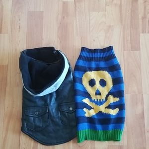 Bad Boy Leather Vest with Skull Sweater